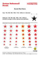 72102 Soviet Red Stars decals