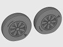 ASQ48072 1/48 F4U Corsair Late Ribbed Thread (late '50s) Wheels set!