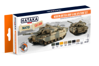 HTK-CS77 Modern British Army & RAF AFV paint set 8 x 17ml --> ORANGE LINE