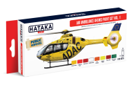 HTK-AS76 Air Ambulance (HEMS) paint vol. 1 set of 8 x 17ml