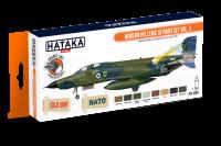 HTK-CS68 Modern Hellenic AF paint set vol. 1 -- ORANGE LINE 8 x 17ml