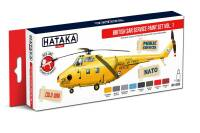 HTK-AS98  British SAR Service paint set of 8 x 17ml,  vol. 1
