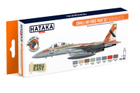 HTK-CS62 Israeli Air Force paint set (modern jets) 8 x 17ml --> ORANGE LINE
