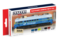 HTK-AS57 Polish Railways locomotives paint set vol. 3, 6 x 17ml