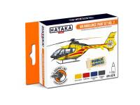 HTK-CS79 Air Ambulance (HEMS) paint set 4 x 17ml, vol. 2-- ORANGE LINE