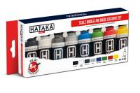 HTK-AS100 Scale Modelling Basic Colours set 8 x 17ml