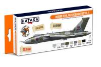 HTK-CS97 Modern Royal Air Force paint set 8 x 17 ml  vol. 5 -- ORANGE LINE