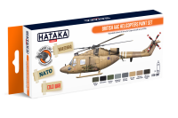 HTK-CS87 British AAC Helicopters paint set 8 x 17ml--> ORANGE LINE