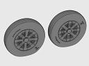 ASQ48069 1/48 F4U Corsair Ribbed Thread Wheels set!