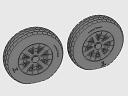 ASQ48068 1/48 F4U Corsair Block Thread Wheels set!
