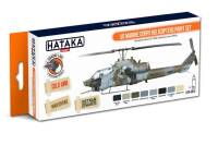 HTK-CS14 US Marine Corps Helicopters Paint Set -- ORANGE LINE
