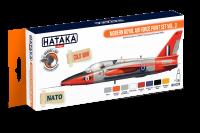 HTK-CS70 Modern Royal Air Force paint set vol. 3 -- ORANGE LINE 8 x 17ml