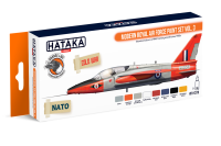 HTK-CS70 Modern Royal Air Force paint set vol. 3 -- ORANGE LINE 8 x 17ml