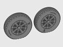 ASQ48070 1/48 F4U Corsair Ribbed/Diamond Thread Wheels set!