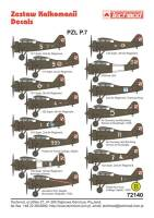 72140 PZL P.7a Decal Set