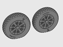 ASQ48067 1/48 F4U Corsair Diamond Thread Wheels set!