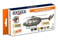 HTK-CS19 US Army Helicopters Paint Set -- ORANGE LINE 6 x 17ml