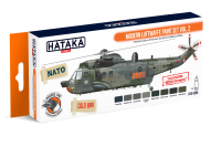 HTK-CS55 Modern Luftwaffe paint set of 8 x 17ml vol. 2 --> ORANGE LINE