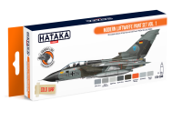 HTK-CS48 Modern Luftwaffe paint set of 8 x 17ml  vol. 1 --> ORANGE LINE