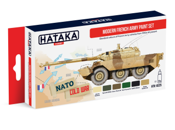 HTK-AS25 Modern French Army paint set of 6