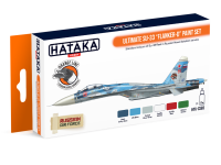HTK-CS83 Ultimate Su-33 Flanker-D paint set of 6 x 17ml --> ORANGE LINE