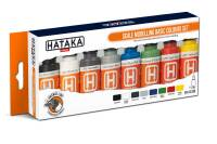 HTK-CS100 Scale Modelling Basic Colours set – ORANGE LINE 8 x 17ml