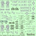 1/48 F/A-18D VMFA-121 Green Knights decals