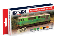 HTK-AS40 Polish Railways locomotives paint set of 6 vol. 1