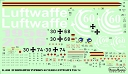 D48080 Eurofighter Typhoon 60 Years Luftwaffe TLG 74 decals