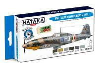 HTK-BS103 WW2 Italian Air Force Paint set of 6 x 17ml  vol. 1  – BLUE LINE