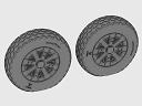 ASQ48071 1/48 F4U Corsair Cross Thread Wheels set!