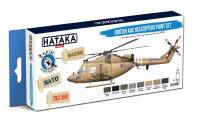 HTK-BS87 British AAC Helicopters paint set -- BLUE LINE 8 x 17ml