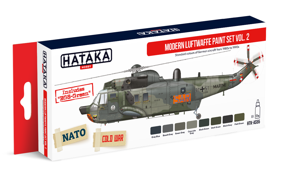 HTK-AS55 Modern Luftwaffe paint set vol. 2, 8x17ml