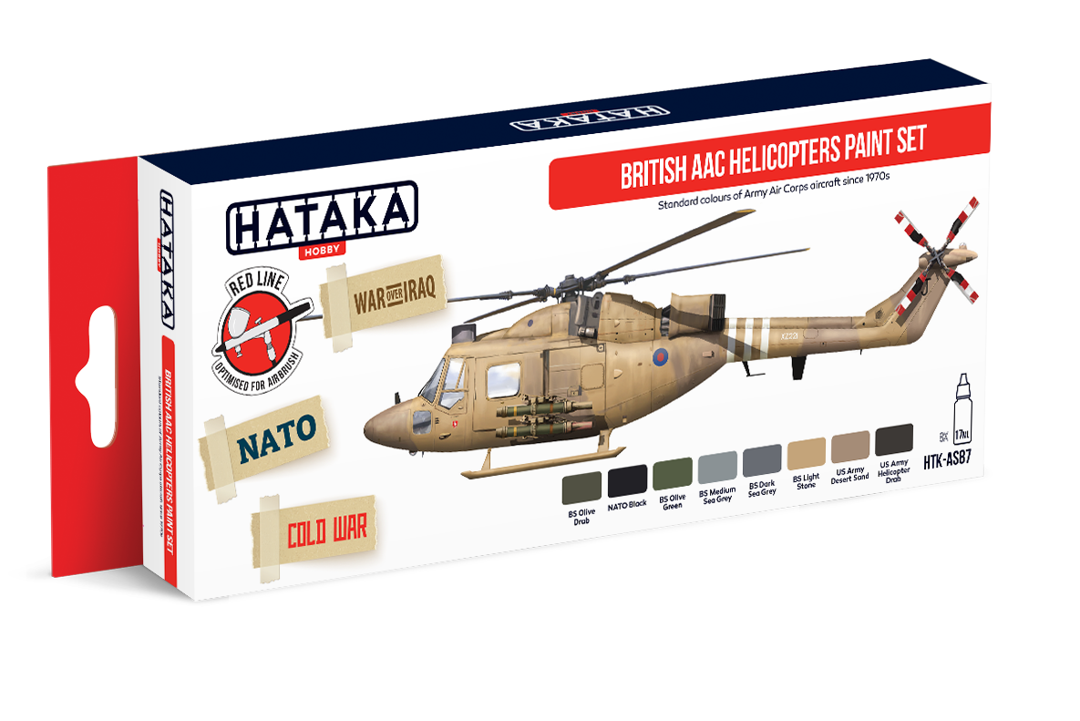 HTK-AS87 British AAC Helicopters paint set of 8 x 17ml