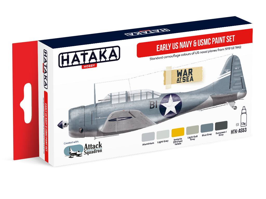 HTK-AS53 Early US Navy paint set of 6