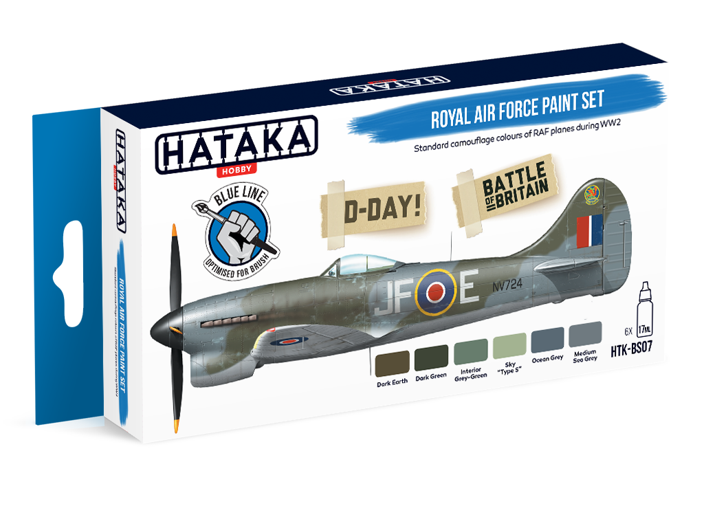 HTK-BS07 Royal Air Force paint set of 6 x 17ml - BLUE LINE