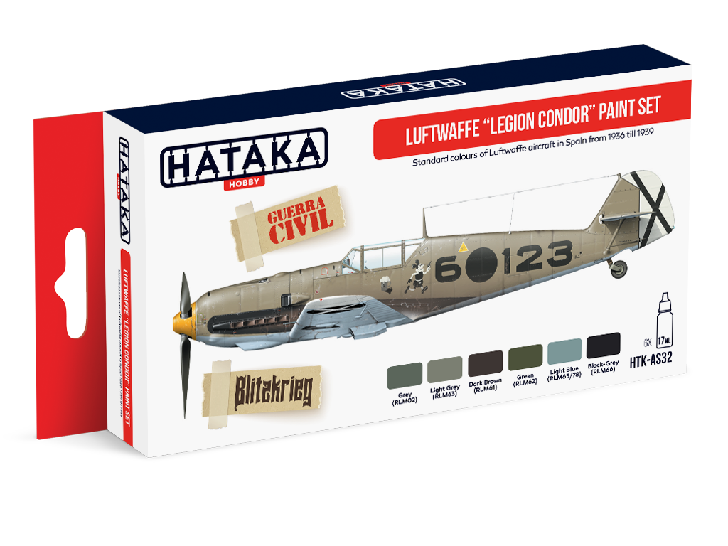 HTK-AS32 Luftwaffe Legion Condor paint set of 6