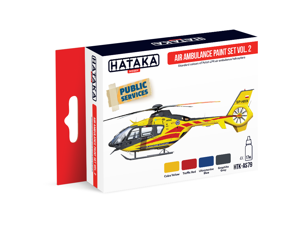 HTK-AS79 Air Ambulance (HEMS) paint vol. 2 set 4 x 17ml
