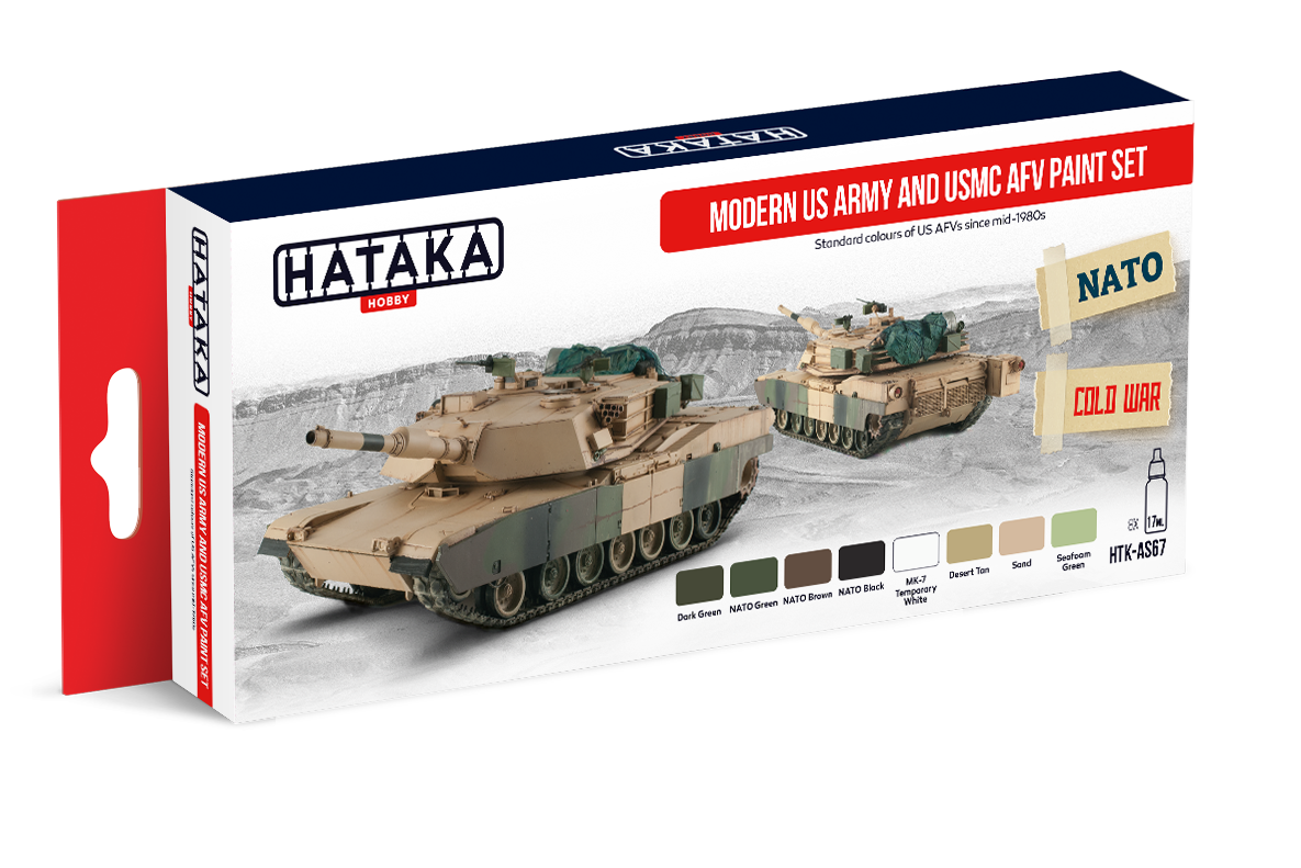 HTK-AS67 Modern US Army and USMC AFV paint set 8 x 17ml