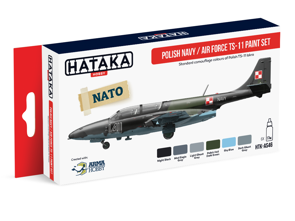 HTK-AS46 Polish Navy/Air Force TS-11 Color Set of 6