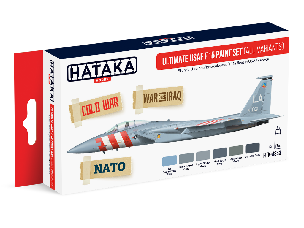 HTK-AS43 Ultimate USAF F15 paint set (all variants) set of 6