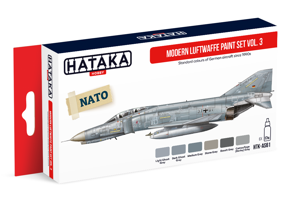 HTK-AS61 Modern Luftwaffe model paint set vol. 3