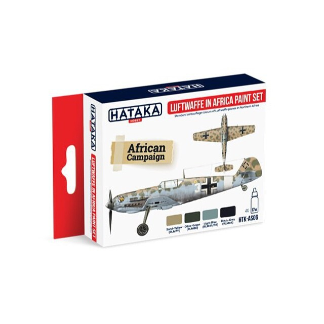 "HTK-AS06 ""Luftwaffe in Africa paint set"" set of  4"