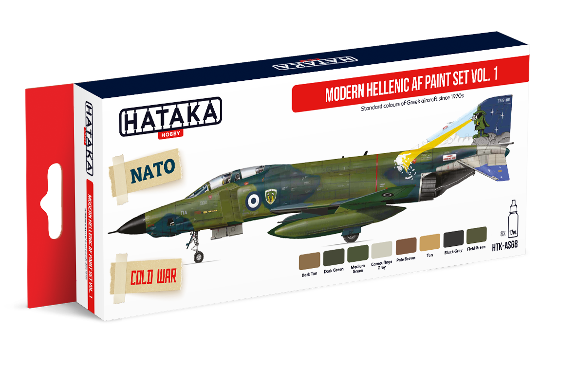HTK-AS68 Modern Hellenic AF paint set vol. 1. 8 x 17ml