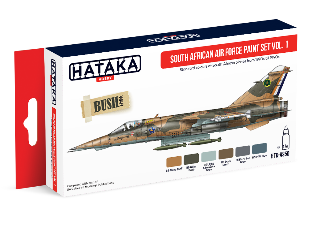 HTK-AS50 South African Air Force paint set vol. 1, set of 6