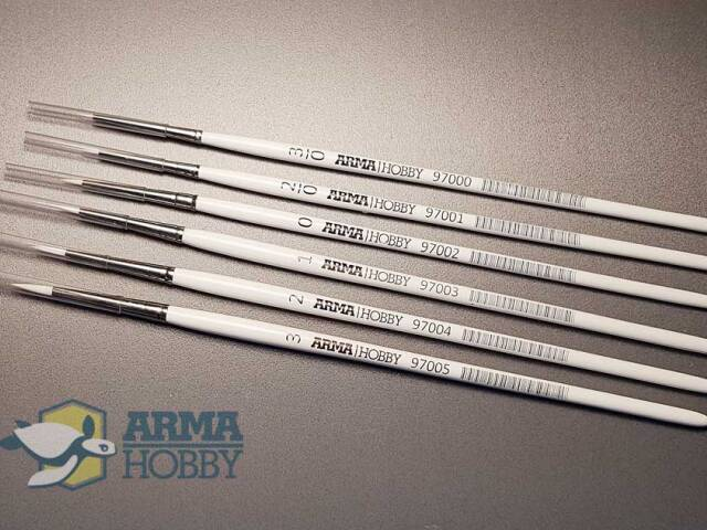 Paintbrushes for acrylics from  Arma Hobby