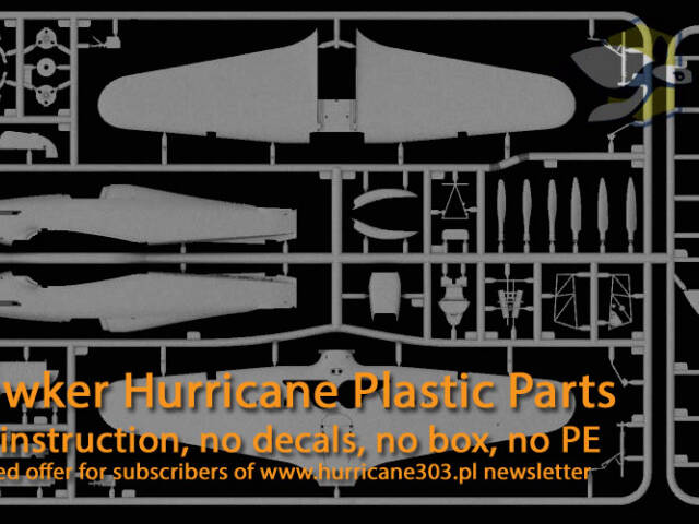 Hurricane model kit delivery and plastic sprues offer