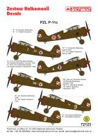 72123 PZL P.11c decals