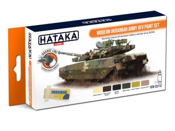 HTK-CS112 Modern Ukrainian Army AFV paint set 6 x 17ml -- ORANGE LINE
