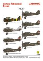 72141 PZL P.7a Decal Set